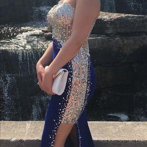 Prom dress (blue & silver)